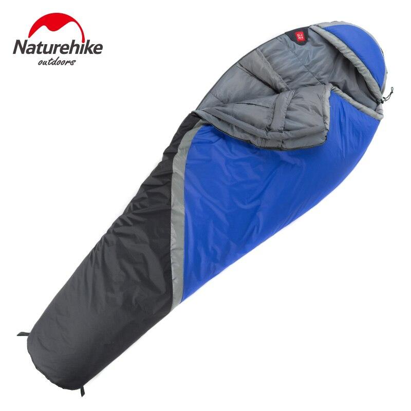 NatureHike цена от 0 до 5 градусов зимний Мумия спальный мешок для кемпинга Пешие прогулки путешествия может быть молнии вместе - 2