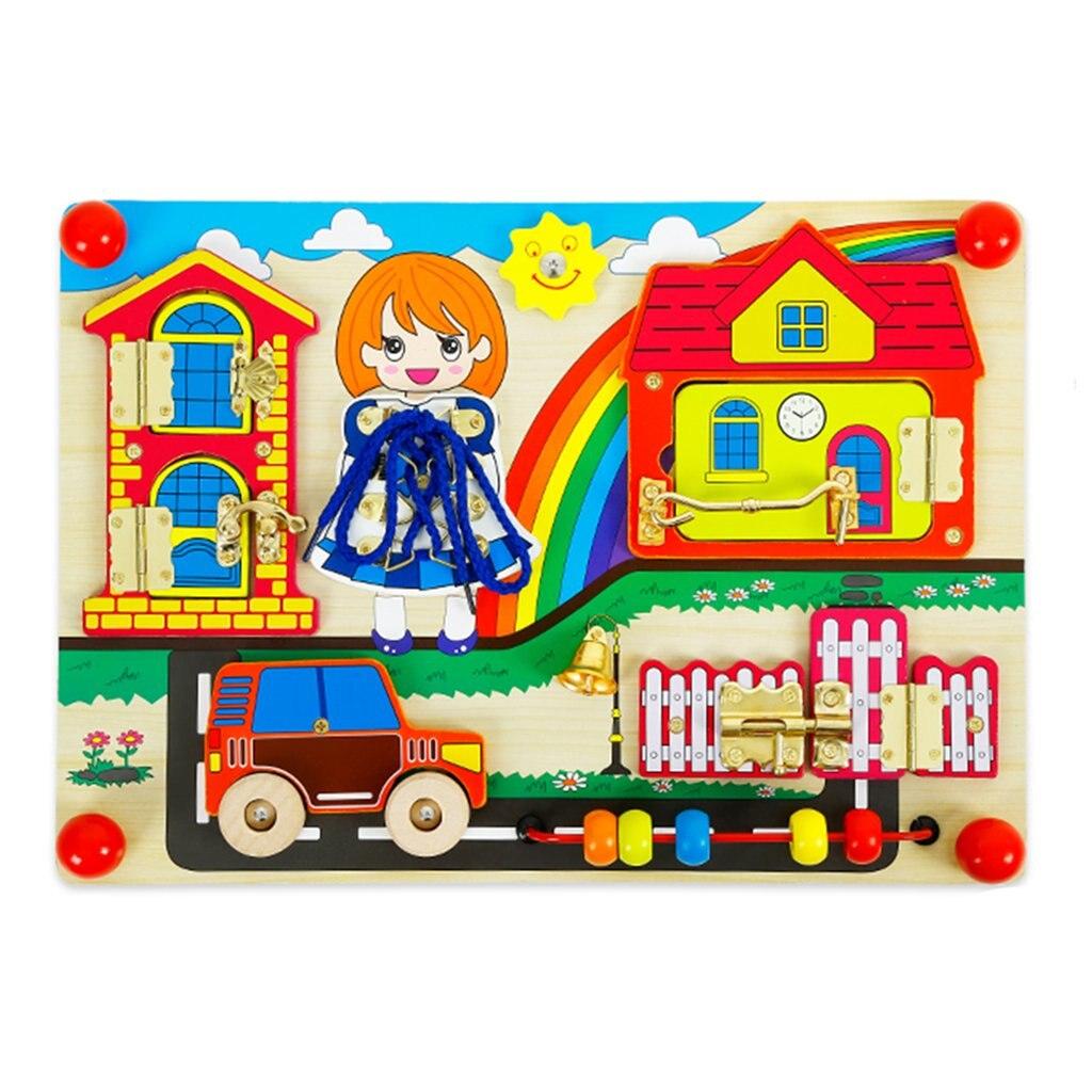 En bois mystique porte plateau laçage jeu perle labyrinthe Montessori apprentissage précoce jouets éducatifs cadeau d'anniversaire pour enfants enfants