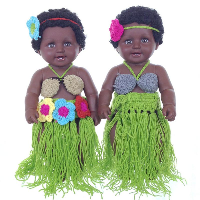 50CM 1000g African Negro Style Innovative Lovely Sounding Voice Cloth Dolls Silicone Simulation Dolls Baby Model50CM 1000g African Negro Style Innovative Lovely Sounding Voice Cloth Dolls Silicone Simulation Dolls Baby Model