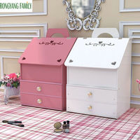 3 Layer Drawer Cosmetic Storage Box Plastic Makeup Jewelry Organizer Case Home Skin Care Container Shelf Lipstick Holder Boxes