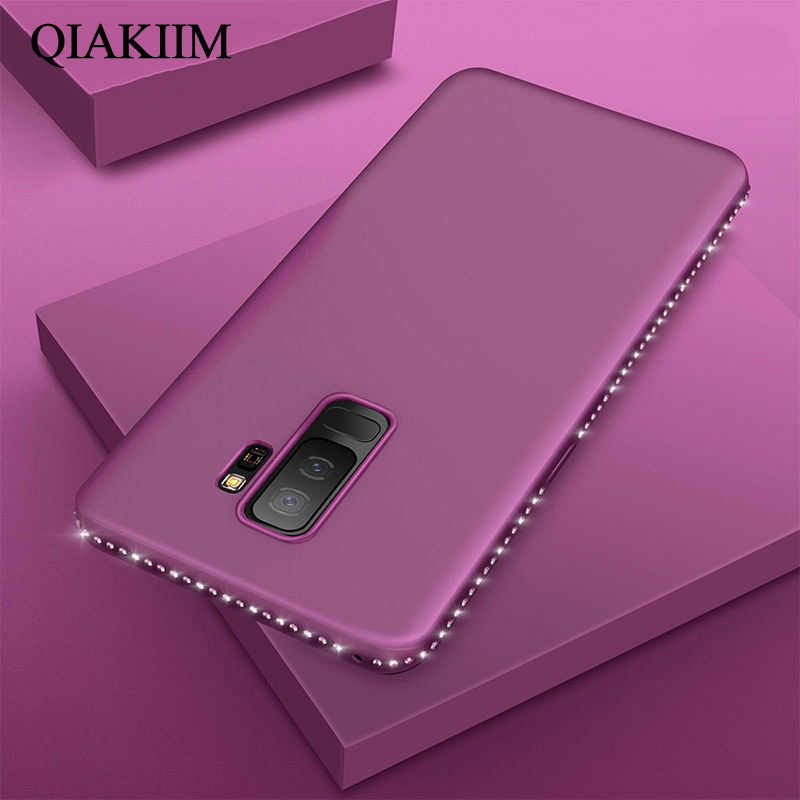 Bling Diamond Case Voor Samsung Galaxy A8 A6 S8 S9 S10 Plus S10e S7 Rand J5 J7 Pro A5 A7 j3 J5 J7 2017 2016 Case Soft Back Cover