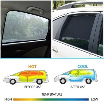 Fabric Window Shades   4PCS/Set Or 2PCS/Set Magnetic Car Side Window SunShades Mesh Shade Blind For Mitsubishi DELICA Car Curtain