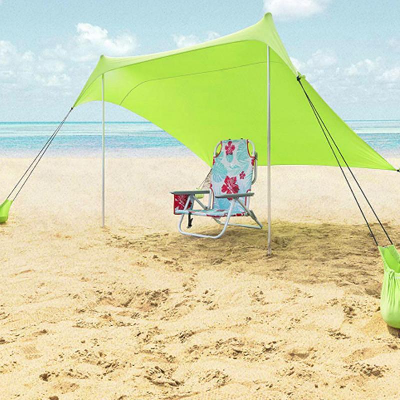 Été famille plage léger Portable abri soleil plage tente UV bâche soleil ombre Camping pêche auvent