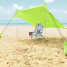 Summer Family Beach Lightweight Portable Sun Shelter Beach Tent UV Tarp Sun Shade Camping Fishing Awning недорго, оригинальная цена