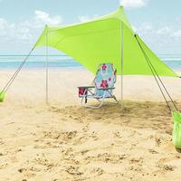 Summer Family Beach Lightweight Portable Sun Shelter Beach Tent UV Tarp Sun Shade Camping Fishing Awning