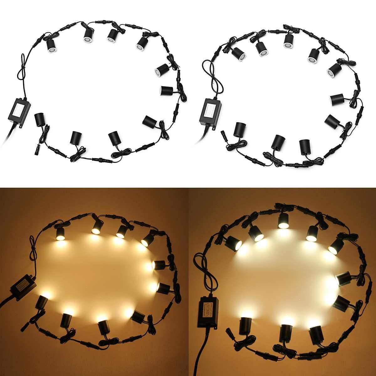 Mising 10 pcs/lot 32mm lampe d'extérieur LED étanche lampes enterrées à l'extérieur encastré escalier lampe lumière de plancher LED spot mural