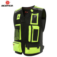 SCOYCO Led Light Moto Motorcycle Vest Reflective Biker Waistcoat Jacket Man Protection Clothing Motorbike Body Armor Rider Vests