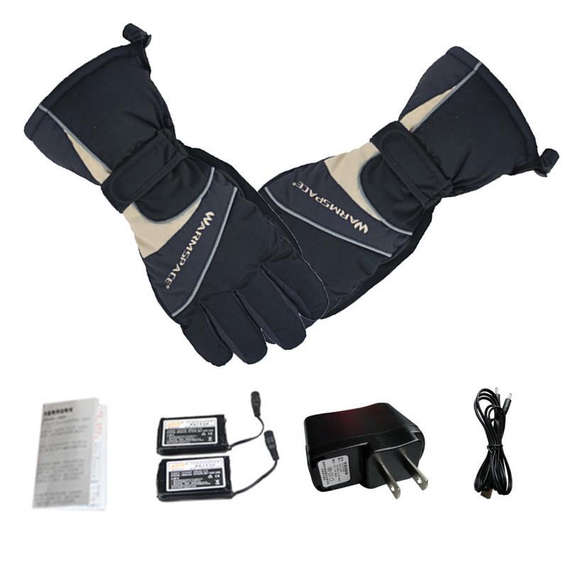 Hiver thermique électrique chaud étanche gants chauffants batterie alimenté pour moto chasse ski gants hiver main plus chaude