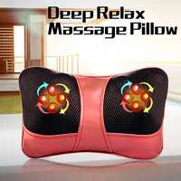 Cervical Spine Massager Neck Lumbar Back Electric Utility Vehicle Body Massage Pillow Cushion Massage Chair Health Care