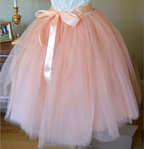 465e71d98057 7 Layer Tulle Skirt Womens Vintage 50s Rockabilly Tutu Petticoat Ball Gown  Solid Fashion New Styles