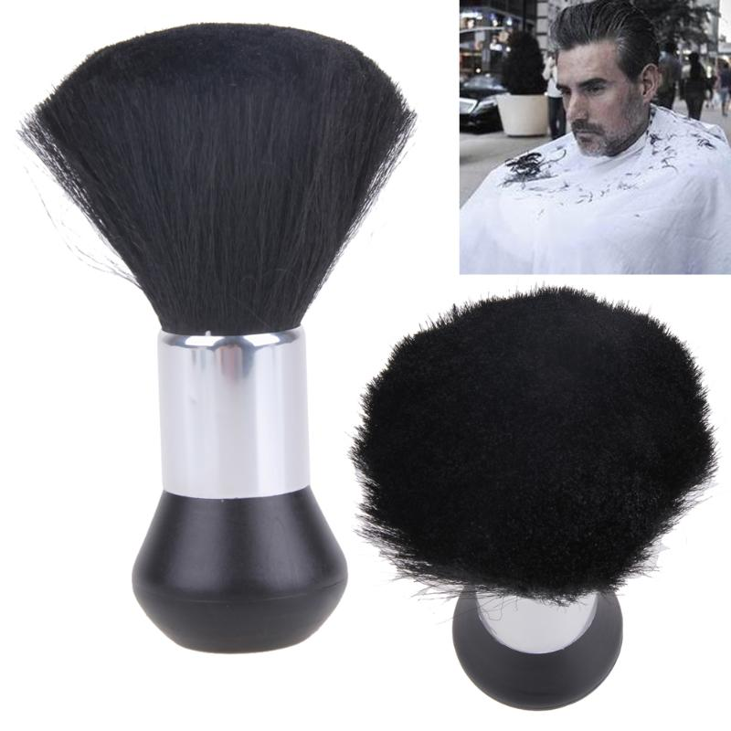 Professional Soft Black Neck Face Duster Brushes Barber Hair Clean Hairbrush Salon Cutting Hairdressing Styling Makeup Tool
