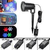 Christmas Laser Snowflake Projector Outdoor LED Waterproof Disco Lights Home Garden Star Light Indoor Decoration AC 110 240V