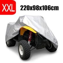 цена на XXL 190T Silver 4 Wheel Quad ATV Cover For Polaris Honda Yamaha Can-Am Suzuki Waterproof Anti-UV Dustproof ATV Quad Cover