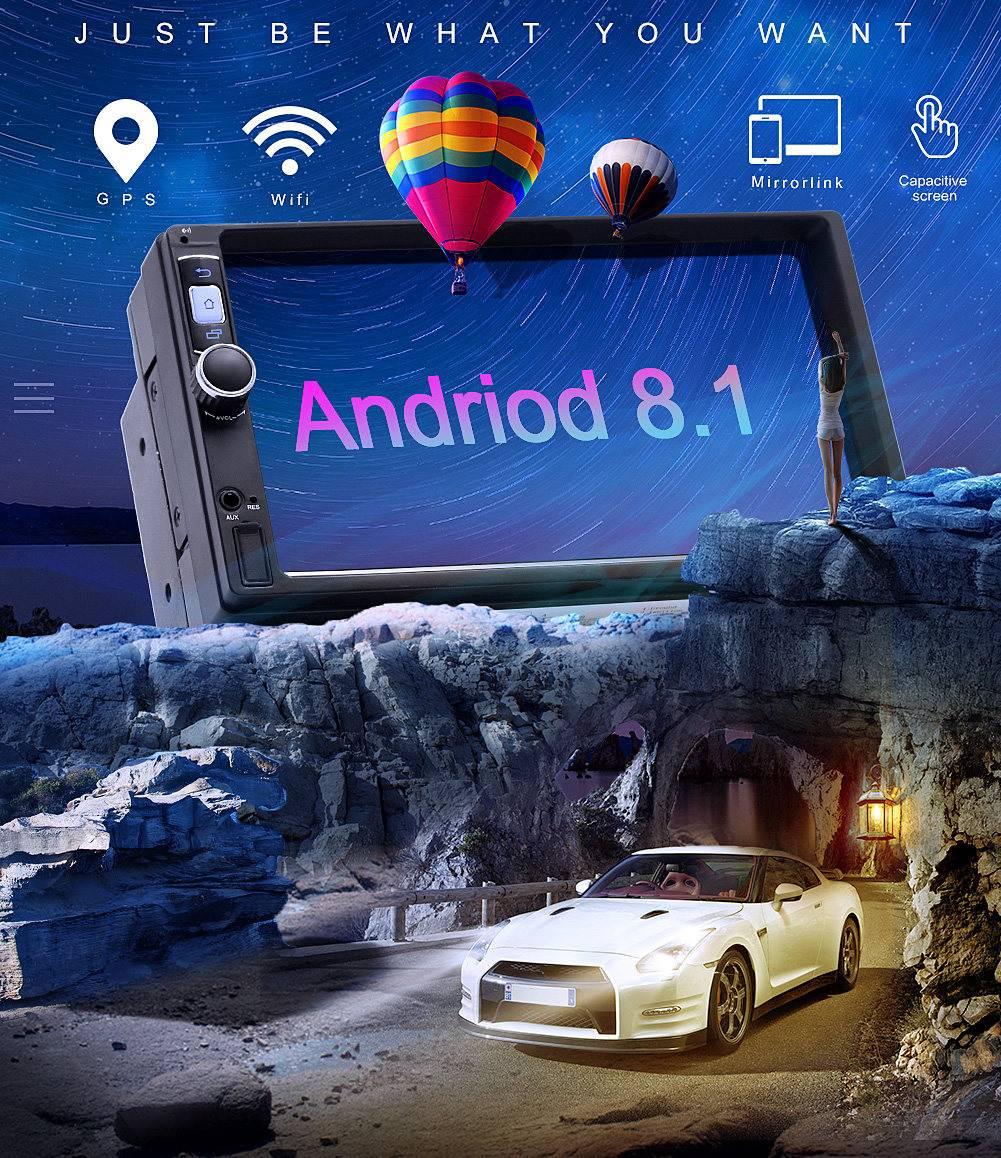7 Car Stereo 2 din Car Multimedia Lettore MP5 per Android 8.1 1 + 16G Bluetooth WIFI GPS nav Radio HD Video Audio7 Car Stereo 2 din Car Multimedia Lettore MP5 per Android 8.1 1 + 16G Bluetooth WIFI GPS nav Radio HD Video Audio