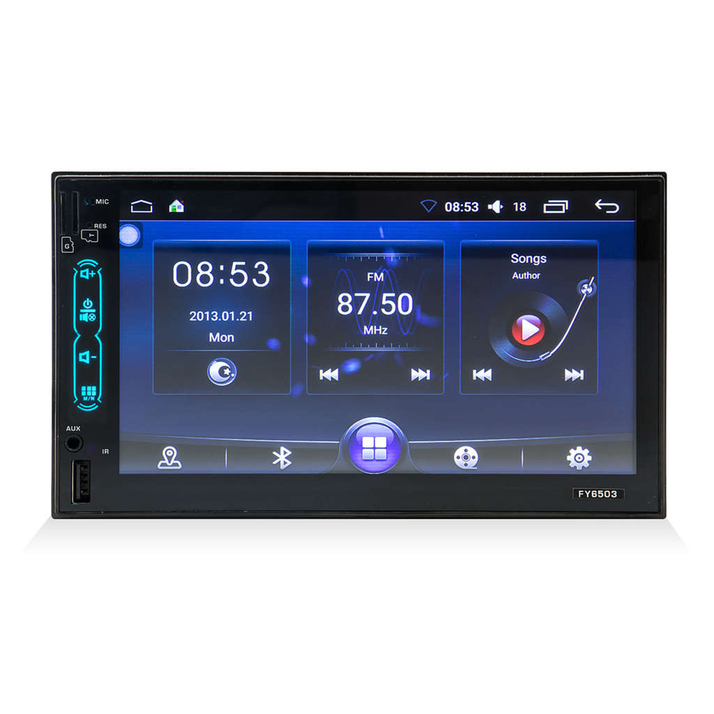 GüNstiger Verkauf Fy6503 Android 7 Zoll Auto Gps Navigation Mp5 Player Doppel Spindel Multifunktions Radio 2din Fahrzeug Mp3 Player