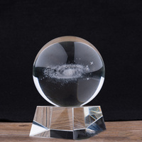 80MM 80MM Diameter Milky Way Crystal Ball Globe Galaxy Miniatures 3D Laser Engraved Glass Ball Sphere Home Decor Gifts