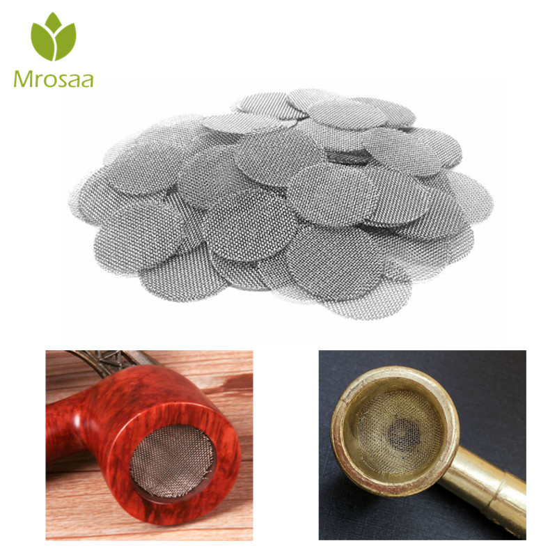 500pcs Stainless Steel Silver Pipe Screens For Metal Glass Wooden Acrylic Water Smoking Tobacco Pipe Filters Shisha/Hookah