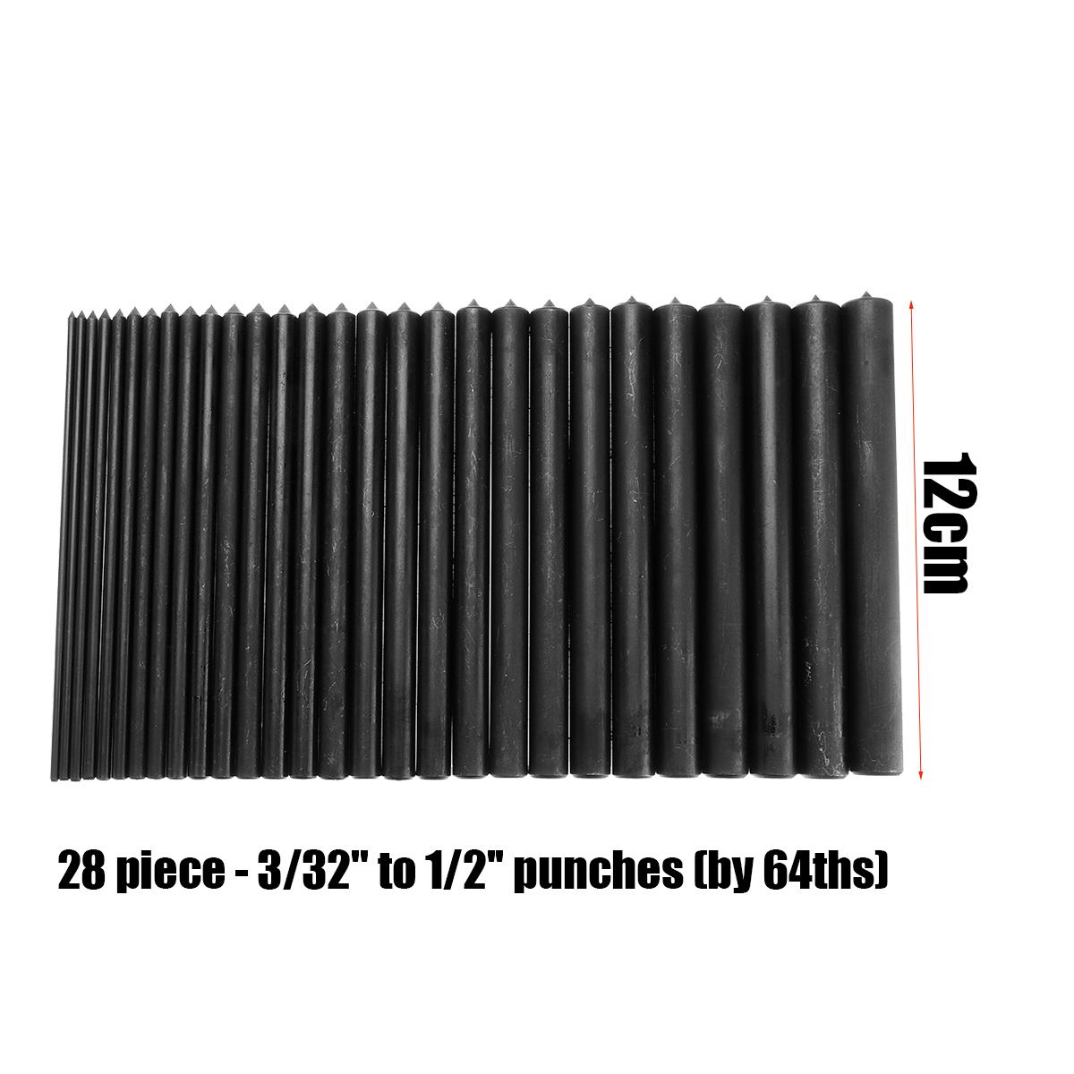 28 Pc Transfer Punch set Carbon STEEL TRANSFER PUNCH MACHINIST THREAD TOOL KIT