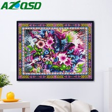 AZQSD Diamond Mosaic Flower Cross Stitch DIY Painting Butterfly Wall Art Animal Special Shaped Handicraft Home Decor
