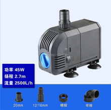 45w 55w ultra-quiet Submersible water fountain pump filter fish pond aquarium water pump tank fountain стоимость