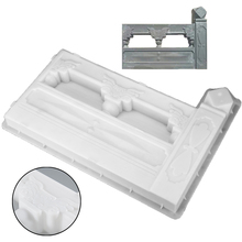 1pc Antique White DIY Concrete Fence Mold Garden Flower Pool Plastic Paving