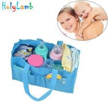 Портативная сумка из нетканого материала простая для мам многофункциональная