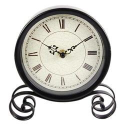 Ретро Круглый небольшой гостиной часы творчества черные классические часы, украшения