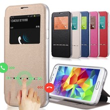 Smart Touch Flip Case for Samsung Note 5 4 3 2 Cover Leather Window View for Samsung Note S9 Plus S7 S6 Edge S5 S4 Mini S3 цена 2017