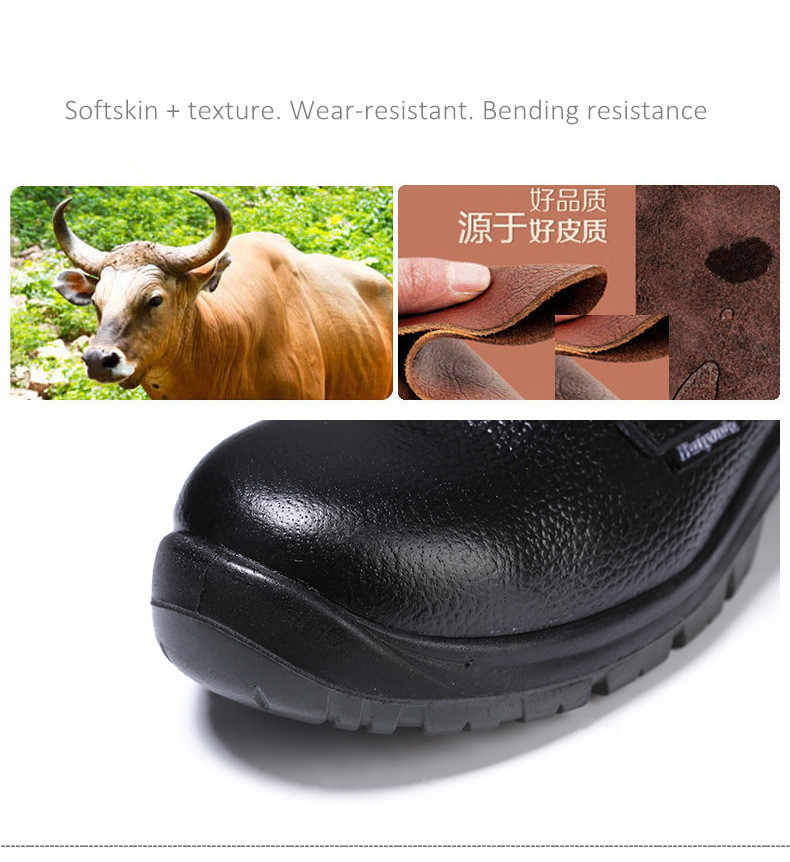 Slijtvast Rubber Geïsoleerde Schoenen Veiligheidsschoenen Anti-mijt Punctie ademend Labor mannen Lederen werkschoenen
