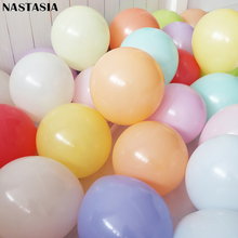 10inch Macaron Balloons Candy Color series balloons wedding party decoration balloon chain 50pcs/lot Round