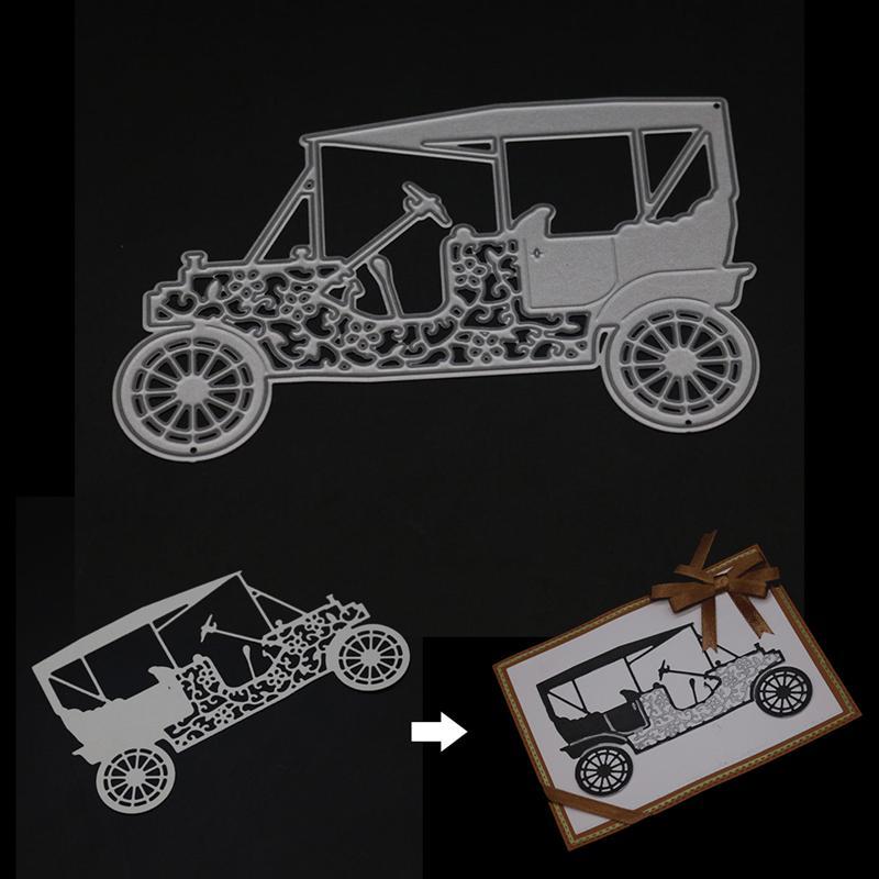 Retro Vintage Car Cutting Dies Scrapbooking Card Maker Emboss Paper Art Stencil