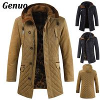 Genuo winter jacket men clothes patchwork thick male high quality Casual fashion parkas cotton coat Outerwear warm windproof