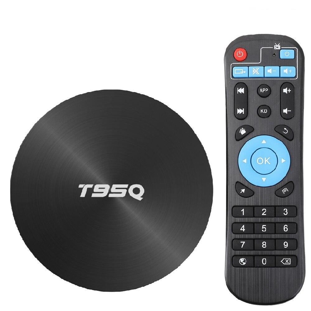 T95Q 4 Gb Tv Box Android 8.1 Lpddr4 Amlogic S905X2 Quad Core 2.4G & 5 Ghz double Wifi Bt4.1 1000 M H.265 4 K lecteur multimédia - 2
