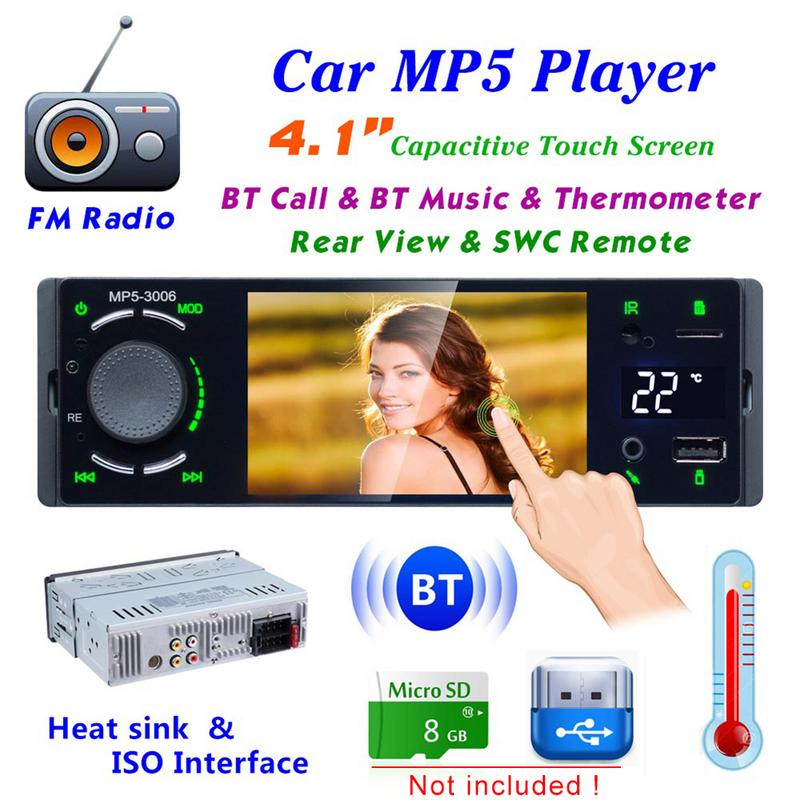 New Car Radio 1 Din 4in HD Auto Multimedia Player Touch Screen 7-color Backlight Stereo MP5 Bluetooth USB TF FM With Camera New Car Radio 1 Din 4in HD Auto Multimedia Player Touch Screen 7-color Backlight Stereo MP5 Bluetooth USB TF FM With Camera