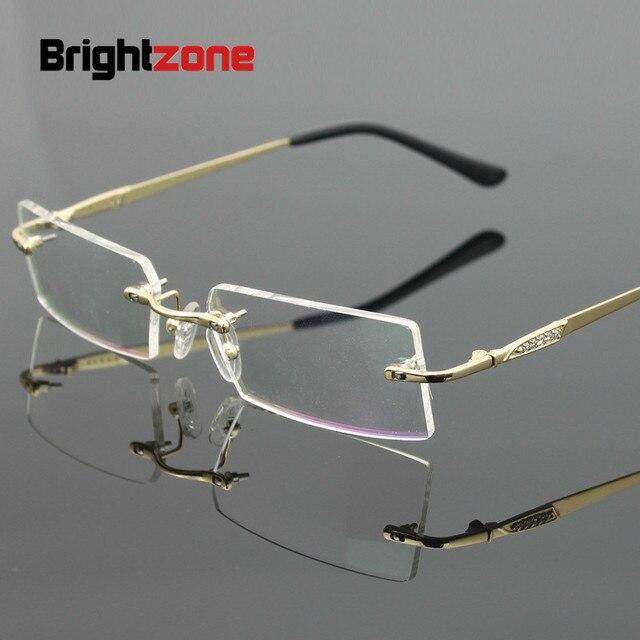890a9ebd9c Brightzone 2018 Myopia Rimless Glasses Male Fashion Spectacle Computer  Vintage Clear Lens Fake Optical Prescription Eyeglasses