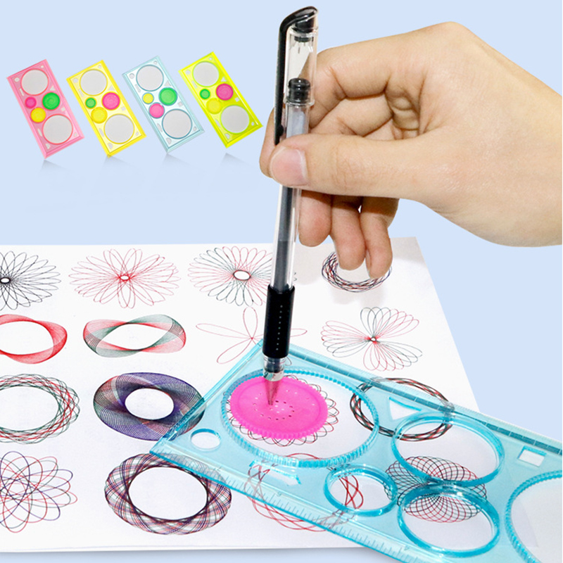 Spirograph Drawing Tools Ruler Drafting Stationery Interlocking Gears Wheels Accessories Multi-function Painting Puzzle Toys