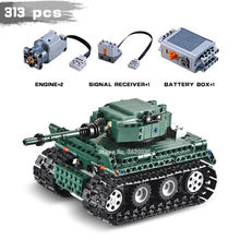 Germany Military Technology Building Blocks Remote Control Tiger Tank World War 2 Figures Weapons Gift For Boy With Legoinglys(China)