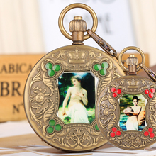 Buy Bronze Pocket Watch for Men Artistic Personality Photo Mechanical Pocket Watches for Women Automatic-self-winding Pendant Watch directly from merchant!