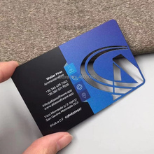 Sublimation silk matt black metal loyalty card metal business name card