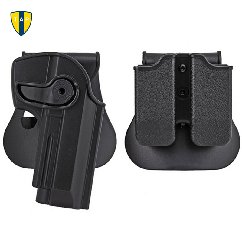 Military Army IMI 1911 / G17 / M92 Gun Holster For Beretta 92 Polymer Roto Holster Magazine Airsoft Tactical Holster image