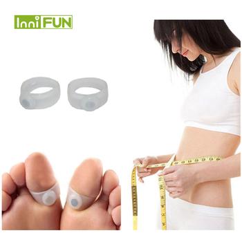 1 para = 2 sztuk odchudzanie magnetyczne silikonowe pielęgnacja stóp dieta masażer do stóp podwójne Toe pierścienie odchudzanie pierścień stóp odchudzanie zmniejszyć tanie i dobre opinie InniFun Pierścień magnetyczny toe 25 g Weight Loss Creams