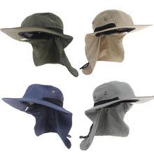 3575b53e25b Gray Outdoor Unisex Brim Sun Block Quick Drying Fishing Sun Cap Climbing  Hat UV Protection Visor