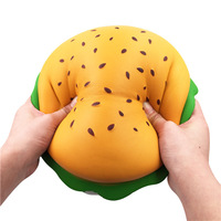 Baleey New Squish Toy Humongous Hamburger Jumbo Gift Decor Toys Slow Rising Squeeze Healing Adult Doll Anti stress Phone Strap