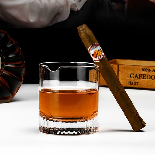 PRO Crystal Cigar Holder Glass Puritano Round Wine Glasses Whisky Usquebaugh XO Cup Brandy Whiskey Rock Vidro Verre Wholesale 2