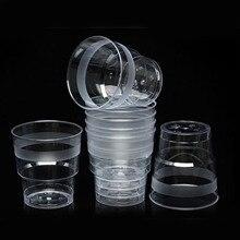 Behogar 40 шт 200 мл прозрачных разрывов стойкие пластиковые одноразовые части чашки Посуда для напитков стаканы Tumblers