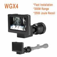 WGX4 visión nocturna infrarroja rifloscopio Video cámaras 6X zoom visión nocturna alcance resolución 1080P cámaras de juego de vigilancia forestal
