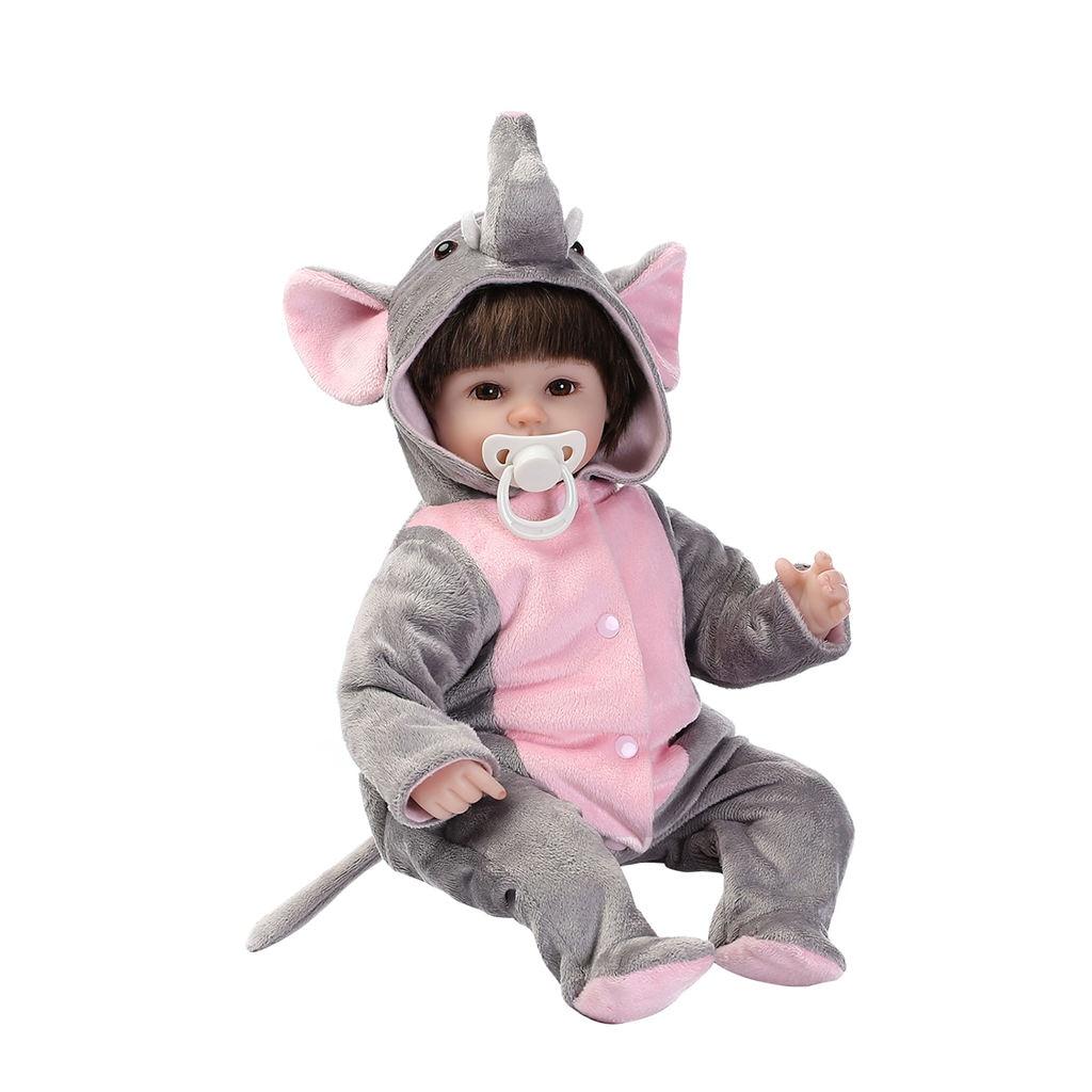 Npk poupée Reborn 40 Cm Silicone souple Reborn bébé poupées vinyle jouets grandes poupées pour filles 3-7 ans bébé poupées avec Blouse tissu