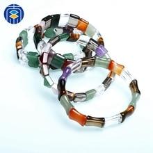 купить JuleeCrystal Natural Amethyst Stone Beads Bracelet Fine Jewelry Wholesale Gemstone Bracelet for Woman Gifts по цене 553.62 рублей