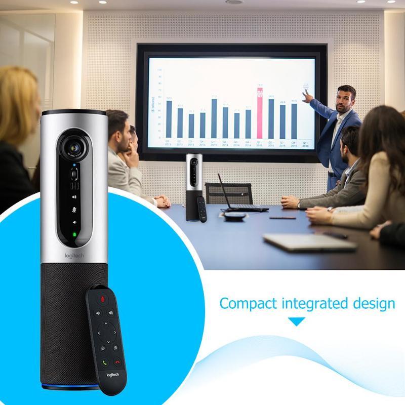 Logitech CC2000e haut-parleur vidéo conférence Webcam connecter le dispositif Full HD 1080 P 30FPS Webcams filaires USB avec télécommande - 3