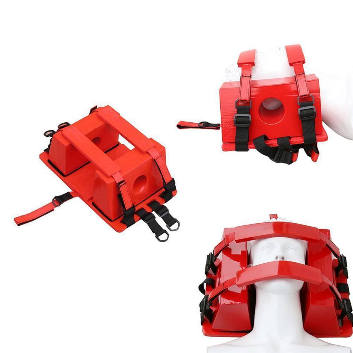 Équipement d'aide de piscine d'immobilisation de tête de civière de sauvetage de l'eau de fixateur de tête de secours d'urgence rouge pour l'approvisionnement d'ems/EMT